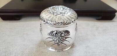 IMPRESSIVE TIFFANY STERLING DRESSER JAR  9.67 ozt.  c.1870-1891 NO RESERVE