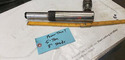 Power Team 5-ton X 3 Stroke Hydraulic Cylinder No Leaks.