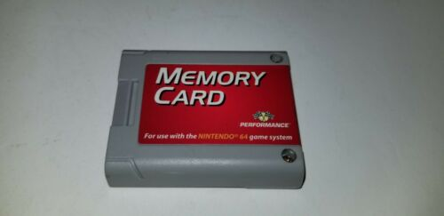 LARGE RED LABEL 256K MEMORY CARD PACK for NINTENDO 64 N64  by PERFORMANCE