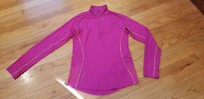 Women's Icebreaker GT 1/4 Zip Shirt Top Hot Pink Size S