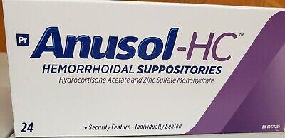 Anusol Plus Extra Pain Relief Hydrocortisone Hemorrhoids 24 Suppositories