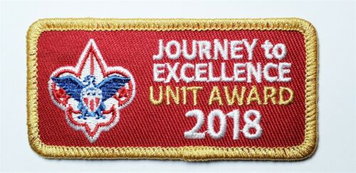 2018 BSA Boy Scout Journey to Excellence (JTE) Gold UNIT AWARD Patch
