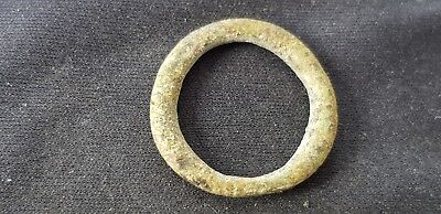 Nice small Viking twist bronze finger ring, please read description. L101n