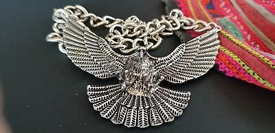 Silver Tone Eagle Necklace (a) …beautiful accent piece...