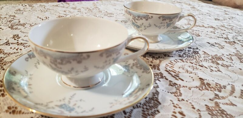 W Dalton Imperial China 5303 Seville Tea Cup and Saucer Japan Blue