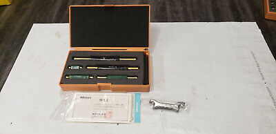 New Mitutoyo 167-912 1-5 Micrometer Standards Wspanner Wrenches In Box Lot1