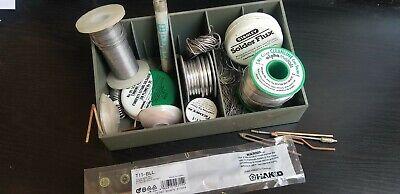 Solder Wire Lot Of 6 Rolls Kester Alpha Oatey Tips Desolderi Wicks Flux