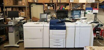 Xerox C70 Pro Copier Printer Oversize Tray Booklet Fiery Finisher Meter 24k