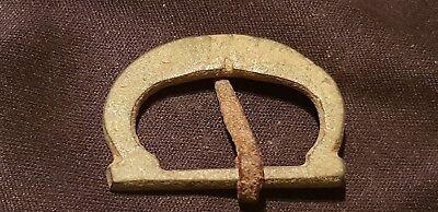 Superb Post Medieval bronze buckle L89j