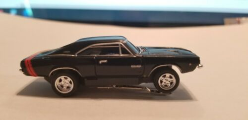 Dodge Charger Black w/Red Stripe   HO slot car T-jet  Cool Wheels
