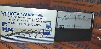Yokogawa 260-321-ecnw 60-0-60 Dc Amp Panel Meter New