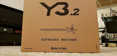Illy Y3.2 Iperespresso and Coffee Machine, Malignant, Unopened, Made in Italy