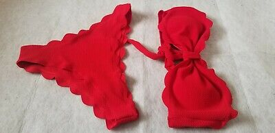 SHEIN Red Underwire Bikini Set , SIZE L, NEW IN BAG ## (ACC)