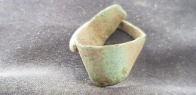 Very rare Viking bronze copper alloy ring, please read description. L101r
