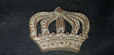 Exquisite Post Medieval Silvered bronze crown mount please read Description L89o