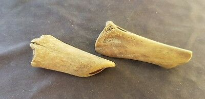 VR Viking Domestic animal bone smoothed gaming pieces Please read desc. L33v