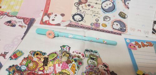 Kawaii Hello Kitty Pen Collectible Cute Party Favor Memo Sheets & Sticker Flakes