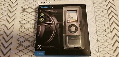 BELKIN TUNEBASE FM TRANSMITTER PLAY AND CHARGE IPOD CLEARSCAN TECH - NEW IN BOX Belkin Ipod Tunebase