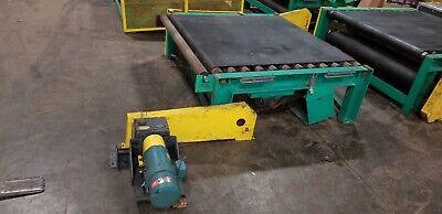 Belt Driven Live Roller Pallet Conveyor 72 X 66 X 23.5 Rollers 63l 3.5 D