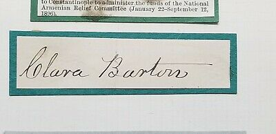 1905 CLARA BARTON Signature American Red Cross Signed Authentic Autograph