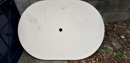 Plastic outdoor oval table