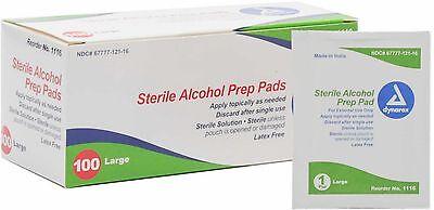 Dynarex Sterile Alcohol Prep Pads, Large 100 Ea (pack Of 7)
