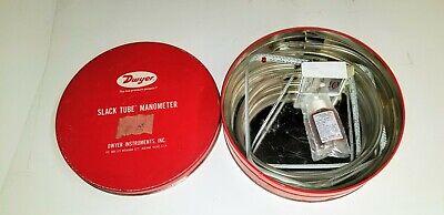 Dwyer 1211-48 Slack Tube Manometer 48 Wg Range ....light Use  Unit 2