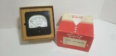 Triplett Model 337-s Panel Meter Ac Milliamperes 0-500 In Original Box