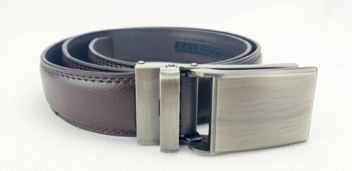 Dante men's Ratchet Click Slide Dress Belt with Genuine Leat
