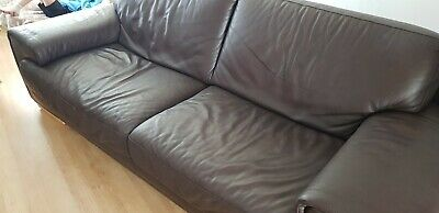 Natuzzi Leather 3 Seater Sofa