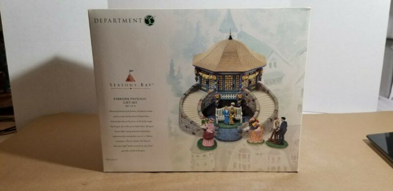 Seasons Bay Dept 56 Parkside Pavilion Gift Set #53412