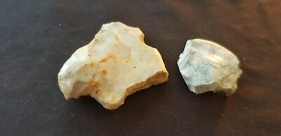 Stunning Neolithic lot of two flint tools found in England L75x