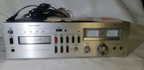 Realistic 8-Track Recorder/Player Deck w/ Manual and all original cords