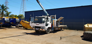 Truck with crane Melville Melville Area Preview
