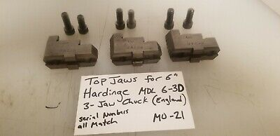 Reversible Chuck Top Jaws From 6 Hardinge 6-3d Lathe Chuck England M-21