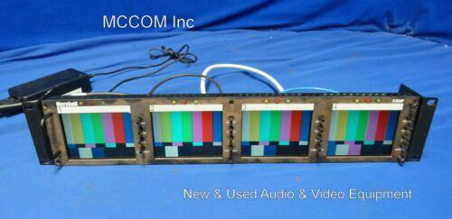 """Marshall V-R44P Quad 4"""" LCD Analog Monitor w/ power supply"""