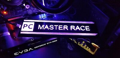 PC Master Race RGB Case Badge