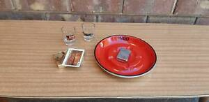 Vintage Red Scotch Whisky Cigarette Ashtray Golden Grove Tea Tree Gully Area Preview