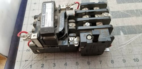GENERAL ELECTRIC  SIZE 1 MOTOR STARTER CR308B100DGA TESTED WORKING PULL [Z3S5#1