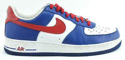 MENS NIKE AIR FORCE 1 2004 RUNNING SHOES SIZE 11 RED WHITE BLUE 306353 164