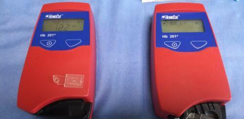 (WorldWide)Hemocue HB 201+ Hemoglobin Analyzer&Alcol skincleanser&Cuvette&Needle