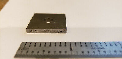.122 Cmi Square Steel Gage Gauge Block Unknown Grade