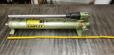 Simplex P-42 2-speed Hydraulic Hand Pump 10k Psi 45-cu.in Reservoir.