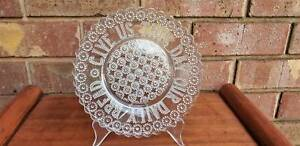 Vintage The Lord's Prayer Glass plate