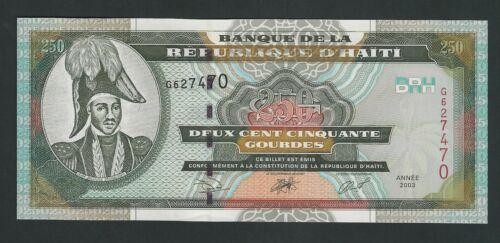 HAITI  250 GOURDES 2003 P- 269  UNC
