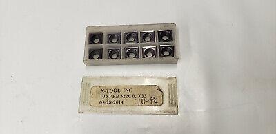 10pc K-tool Speb 332cb X33 Insert. New