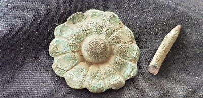 Exquisite rare little Post Medieval flower mount. Please read description. L90y