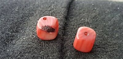 Ancient Roman dice type beads beautiful wearable perfect for blank earrings L59p
