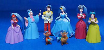 Disney Cinderella Fairy Godmother Resin Christmas Ornament 8 Pc Set Figurine
