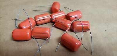 Sprague Pp8-s30 715p .075uf 600v 5 Capacitor Orange Drop Lots Of 10